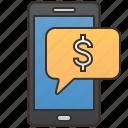 alert, attention, message, money, notice icon