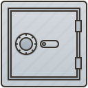 box, keep, safe, security, vault icon