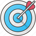 business, goal, marketing, mission, target icon