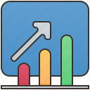business, growth, positive, success, uptrend icon