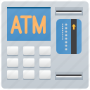 atm, banking, cash, machine, withdrawing icon
