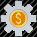 business, economic, financial, mechanism, system icon