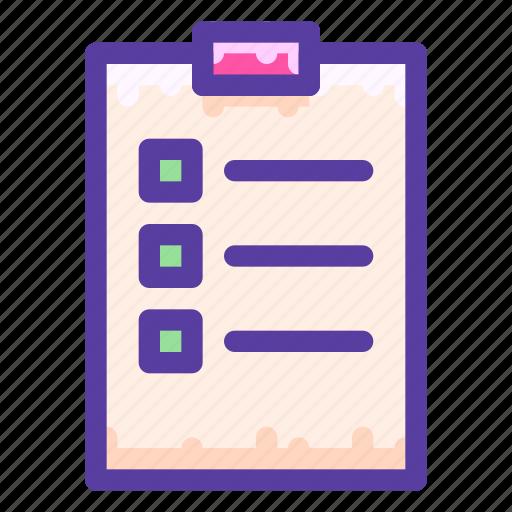checklist, clipboard, task icon