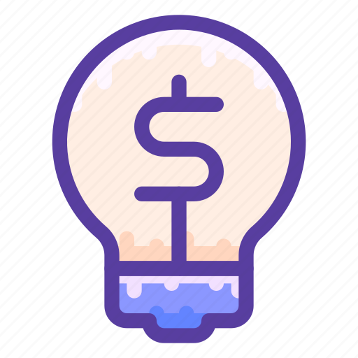 bulb, idea, inspiration, light, money icon