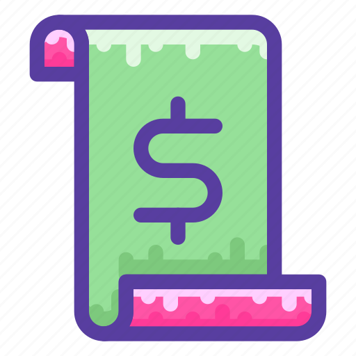 document, finance, money, tax, taxes icon