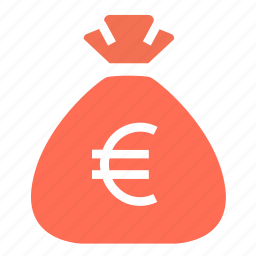 bag, budget, cash, euro, finance, money, money bag icon