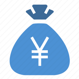 bag, budget, cash, finance, money, money bag, yen icon