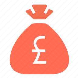 bag, budget, cash, finance, money, money bag, pound icon