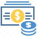 cash, coins, currency, dollar, finance, money, payment icon