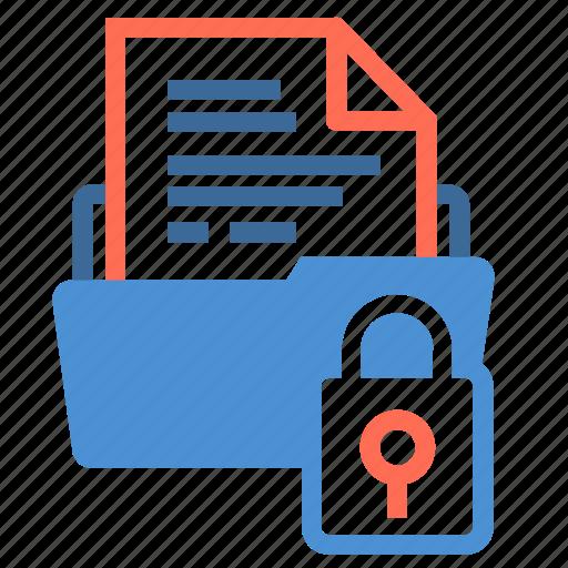 document, file, file folder, folder, infomation, lock, storage icon