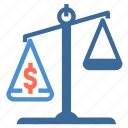 equality, justice, law, legal, money, scale, weight icon icon