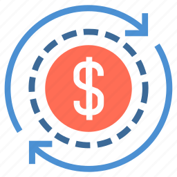 charge, circulation, currency, cycle, dollar, financial, money icon