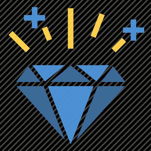 asset, brain, diamond, gemstone, jewel, ruby, white diamond icon
