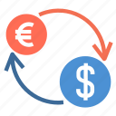 charge, currency, cycle, dollar, euro, financial, money