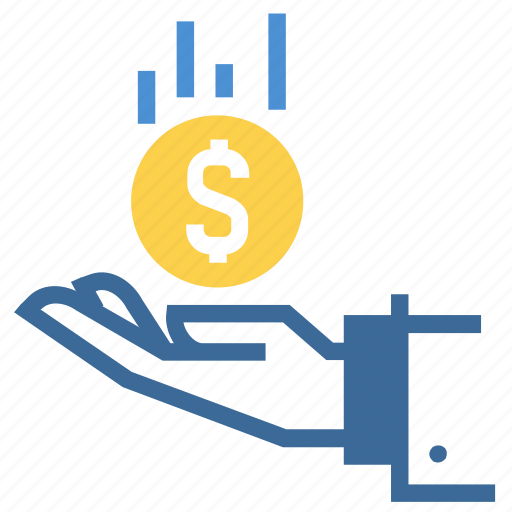 bonus, discount, financial, hand, money, offering, savings icon