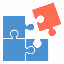 connection, game, jigsaw, order, puzzle, rearrange, settling icon
