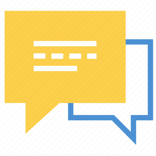 bubbles, chat, discuss, discussion, message, messages, talk icon