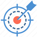 archer, archery, arrows, bullseye, goal, hit, target icon