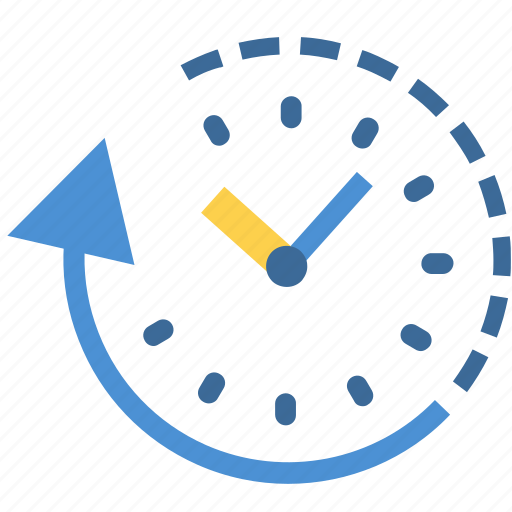 clock, fast, rewind, schedule, time, time travel, timer icon