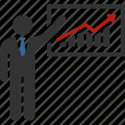 analytics, diagram, graph, lecture, presentation, report, statistics icon