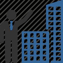 agent, buildings, company, construction, real estate, realtor, realty icon