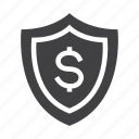 protection, money, shield, finance, safety icon