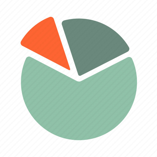 arc, chart, circle, divide, financial, pie chart, statistic icon