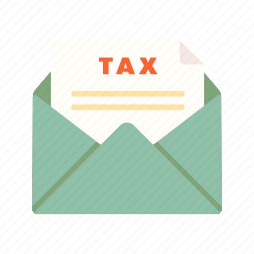 envelope financial invoice letter note taxes icon