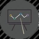 board, chart, diagram, finance, financial, graph, presentation, report, statistics, table icon