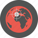 aim, connection, earth, goal, international, network, target, world icon