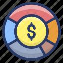asset, cash, coin, dollar coin, money icon