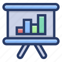 analytical graph, business presentation, data analytics, graphical representation, infographic, statistics icon