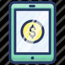internet banking, mobile banking, online bank app, online banking, online money icon