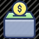 bank vault, cash box, charity, donation, money box, savings icon