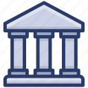 bank, bank building, depository house, financial institution, treasury house icon