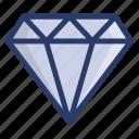 diamond, gem, gemstone, jewel, premium, ruby icon
