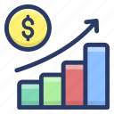 business analytics, business growth, business presentation, financial growth, graph presentation icon