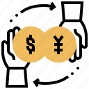 currency, exchange, foreign, money, trade icon