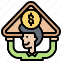 asset, bank, benefit, profits, saving icon