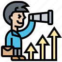 business, goal, opportunity, strategy, trend icon