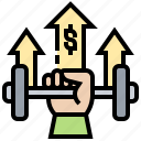 business, effort, improvement, strength, support icon