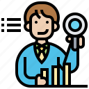 analysis, business, data, information, report icon