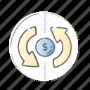 bank, banking, cash, flow, money icon