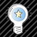 best, bulb, creative, idea, lamp icon