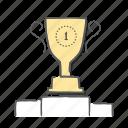 achievment, award, best, prize, reward, trophy icon