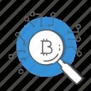 bitcoin, internet, market, money, network icon