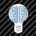 brain, bulb, energy, idea, innovation, mind icon