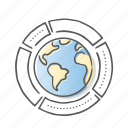 chart, data, global, graph, report icon