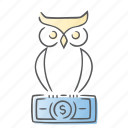decision, logic, owl, smart icon