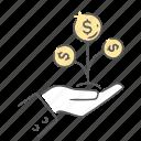 banking, develpment, finance, grow icon